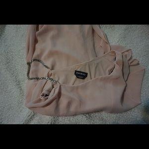 bebe Dresses - Bebe Dusty Pink Dress Sz XXS with one metal strap